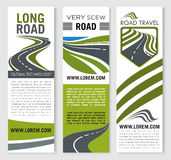 Vector banners for road travel technology company Royalty Free Stock Photography