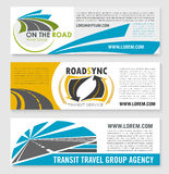 Vector banners for road travel or transit company Royalty Free Stock Photography