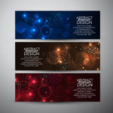 Vector banners set with Abstract Circle bokeh background. Vector illustration Stock Photography