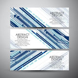 Vector banners set with abstract hi-tech background. Stock Photos