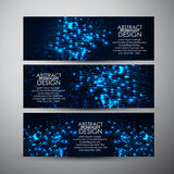 Vector banners set with Abstract technology background. Stock Photo