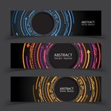 Vector banners set. Colorful geometric shapes composition. Vector banners set background. Colorful geometric shapes composition vector illustration