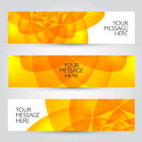 Vector banners set. Floral and plant backgrounds Royalty Free Stock Images