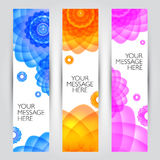 Vector banners set. Floral and plant backgrounds Stock Photography