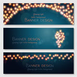 Vector banners set Royalty Free Stock Photo