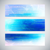 Vector banners set with polygonal abstract shapes Royalty Free Stock Image