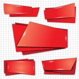 Vector banners set. Red banners vector set on white background Stock Photo