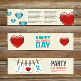 Vector Banners. Set of Three. Abstract Background Royalty Free Stock Photos