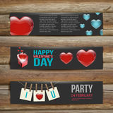 Vector Banners. Set of Three. Abstract Background Royalty Free Stock Images