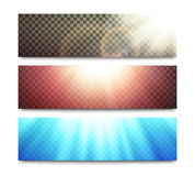 Vector banners set with transparent light effects Stock Photography