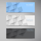 Vector banners and squares. Color set Royalty Free Stock Images