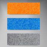 Vector banners and squares. Color set Royalty Free Stock Photography