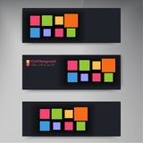 Vector banners and squares. Color set Stock Photo