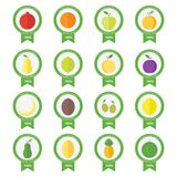 Vector banners, stickers with fresh fruits and berries Royalty Free Stock Photography