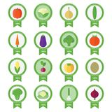 Vector banners, stickers with fresh vegetables Stock Image