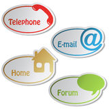 vector banners - telephone, email, home, forum Royalty Free Stock Image