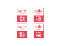 Vector banners template sale set Stock Photography