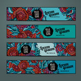 Vector banners template set Royalty Free Stock Photo