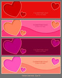 Vector banners, Valentines day, vector background, website Royalty Free Stock Photography