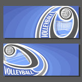 Vector banners for Volleyball