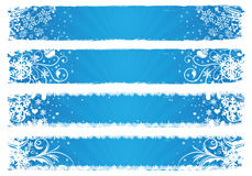 Vector banners voor de winter Royalty-vrije Stock Foto's