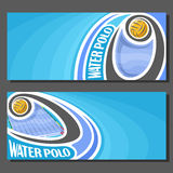 Vector banners for Water Polo Stock Photography