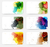 Vector Banners with watercolor paint splash Royalty Free Stock Images