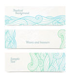 Vector banners with waves vector illustration