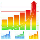 Vector Bar graph Stock Photos