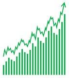Vector bar graph Royalty Free Stock Image