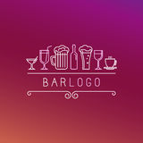 Vector bar logo in linear style Royalty Free Stock Photo
