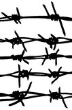 Vector of a barbed wires Royalty Free Stock Image