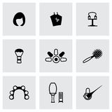Vector Barber icon set Royalty Free Stock Photo