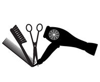 Barber shop icon. Vector barber shop black icon Royalty Free Stock Images