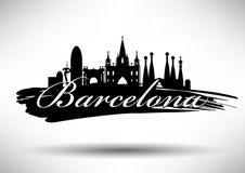 Vector Barcelona City Skyline Design vector illustration