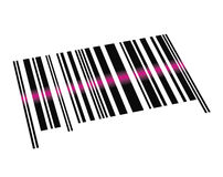 Vector Barcode. Process of reading a barcode by a barcode scanner Stock Photos