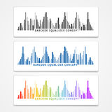 Vector barcode equalizer concept Royalty Free Stock Images