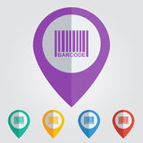 Vector barcode flat. File format eps 10 Stock Photo