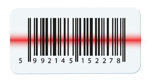 Vector barcode isolated on white Royalty Free Stock Image