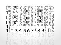Vector barcode numbers. Stock Photos