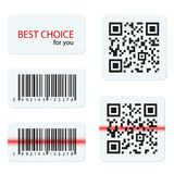 Vector barcode and qr code for your design Royalty Free Stock Photography