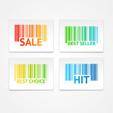 Vector barcode sale labels Royalty Free Stock Photo