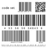 Vector barcode set Royalty Free Stock Image