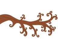 Vector Bare Tree Branch. Tree Branch Vector Illustration Royalty Free Stock Photo