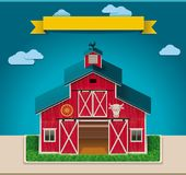 Vector barn XXL icon. Detailed icon representing old countryside barn