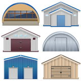 Vector Barns Royalty Free Stock Photos