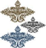 Vector barok ornament in Victoriaanse stijl Royalty-vrije Stock Afbeelding
