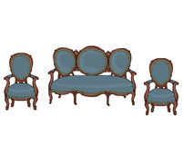 Vector barokke voorwerpen Royalty-vrije Stock Foto