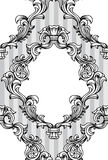 Vector baroque acanthus leaves frame seamless pattern Royalty Free Stock Images