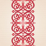 Vector baroque border in Victorian style. Stock Photography